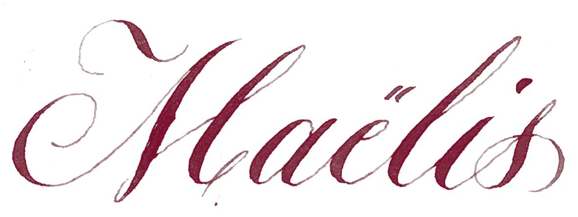 Marque place calligraphié le calligraphe mp